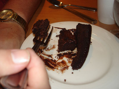 chocolate cake for breakfast