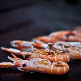 food shrimp by Stefan Mihailovic - Food & Drink Meats & Cheeses ( foods, shrimp, food, croatia, sea, food photography,  )