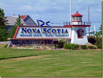Nova Scotia Entry Sign