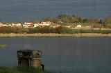 Chalamont, depuis l'étang Chantemerle (route de Villars) : une urbanisation qui se rapproche des étangs