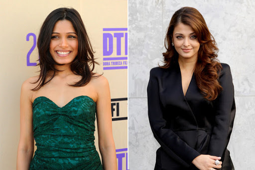freida pinto and aishwarya rai