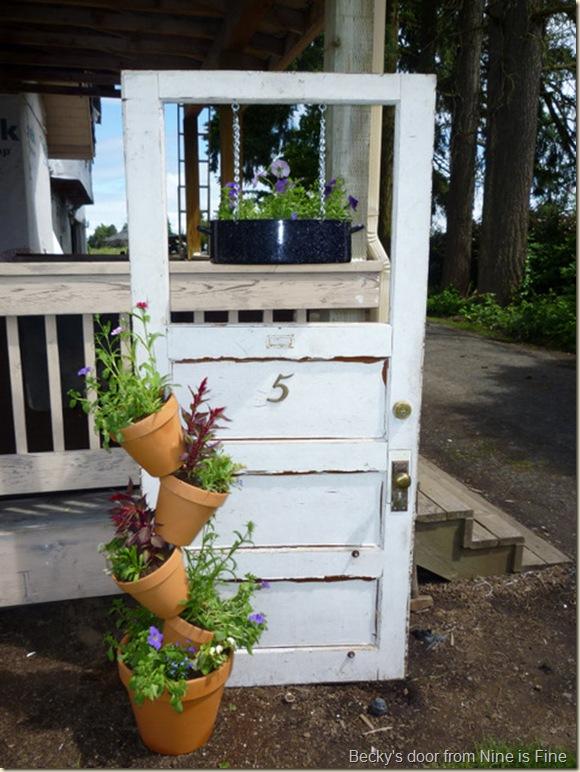 9 is fine door planter and tipsy pots