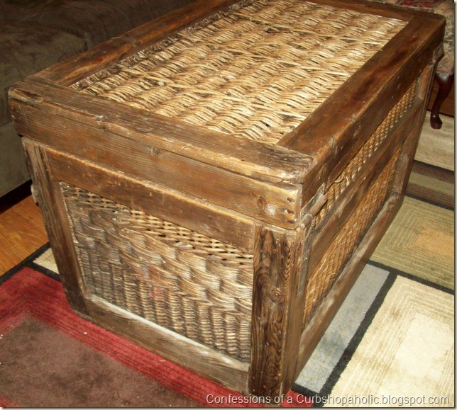 wicker chest coffee table