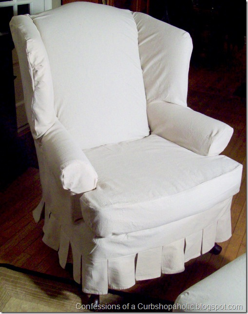 slipcover chair and coffee table 016