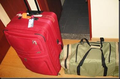 Rød koffert