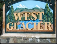 GNP West Glacier - Sign