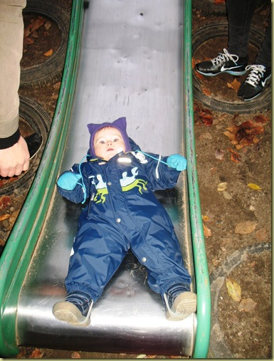 M L down the slide