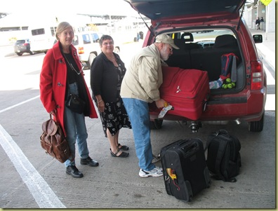 Leaving Austin - luggage out
