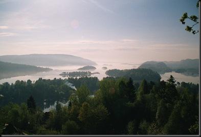 Himmelsk utsikt fra sommerhuset
