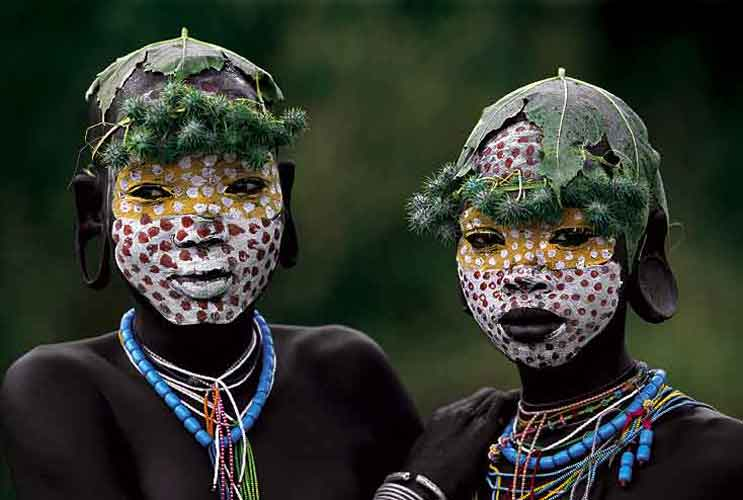 Kids body painting tradisional kids body painting for African body decoration