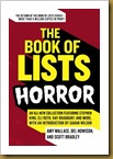 book of lists horror