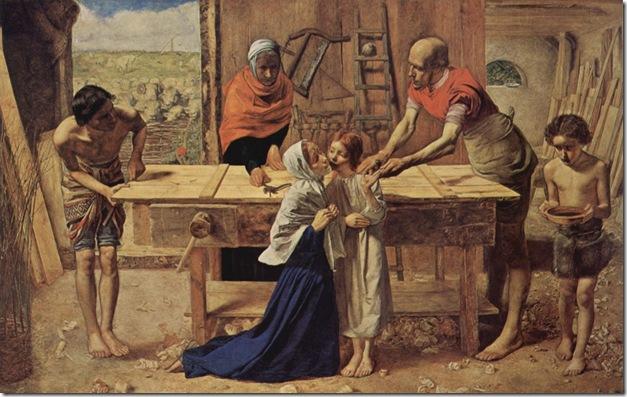 Cristo en casa de sus padres, de John Everett Millais (1850)
