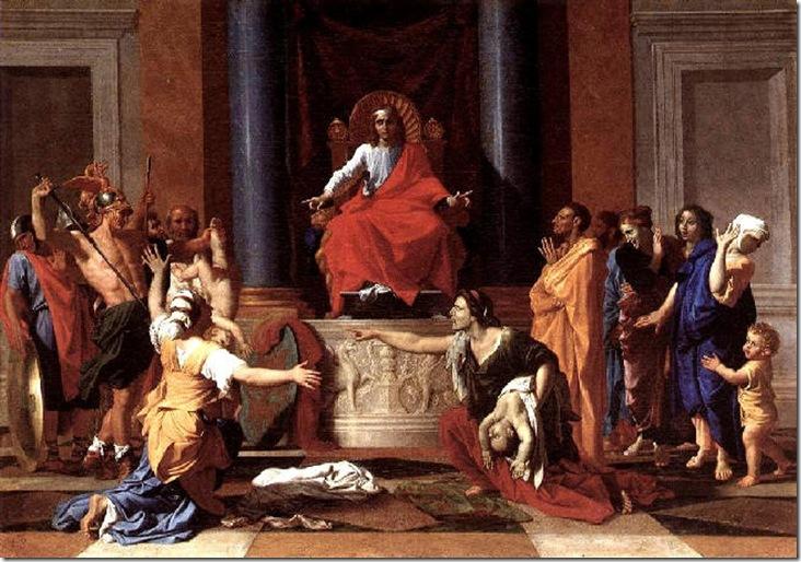 POUSSIN EL JUICIO DE SALOMON 1649