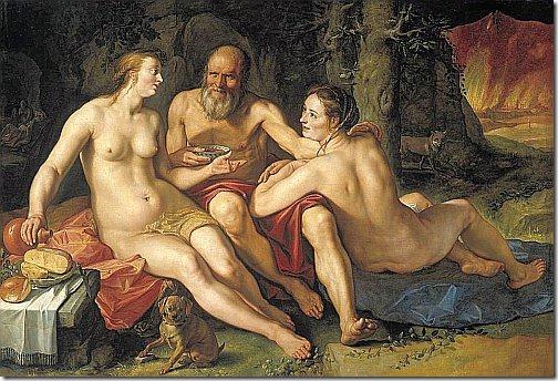 goltzius - lot z córkami
