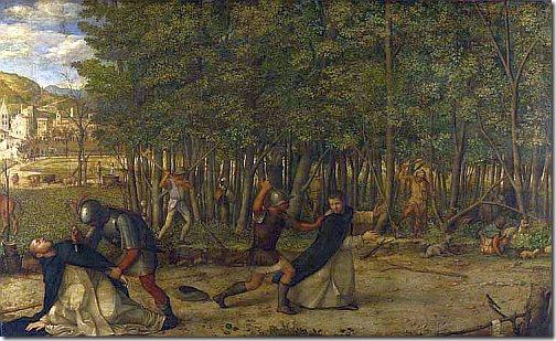 bellini - zamordowanie św. piotra z werony