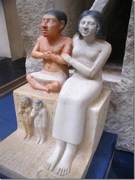 karzeł seneb z żoną