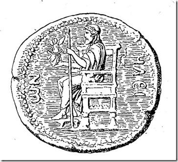zeus z olimpii na monecie