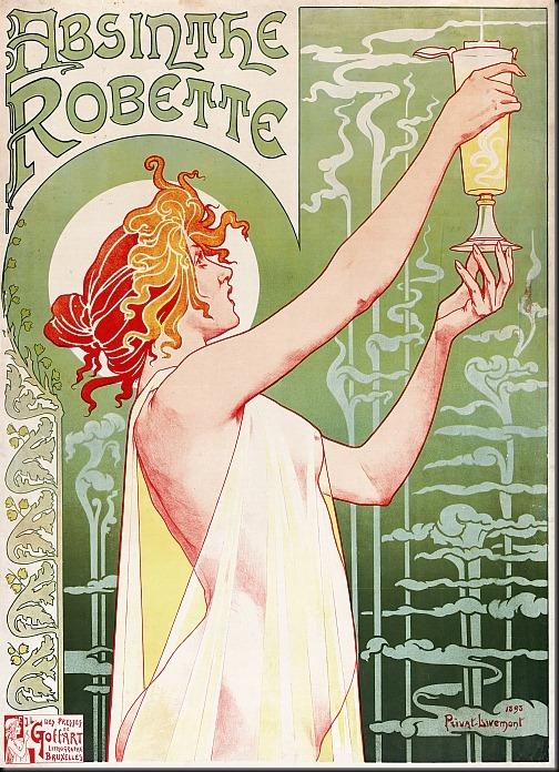 privat-livemont - absinthe robette 1896