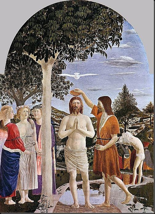 piero della francesca - chrzest