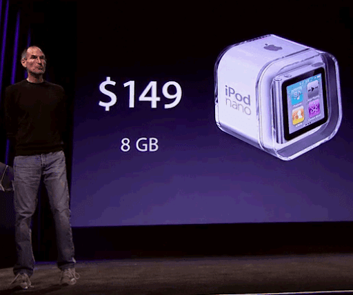 iPod Nano 6th Generation has a price tag of $149 for the 8GB version and