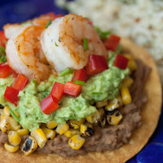 California Avocado Shrimp Tostadas