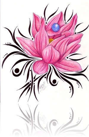 Free Flower Tattoos Specially Lotus Tribal Tattoo Designs Art Photo 1
