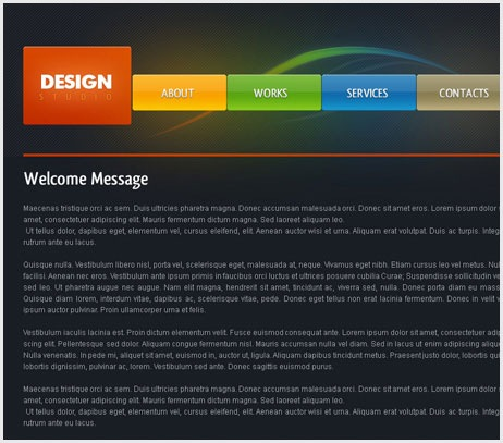Dark Design Studio Web page Layout