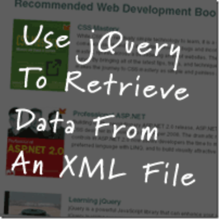 jQuery To Retrieve Data From XML File 20 most useful jQuery Plugins for web developer