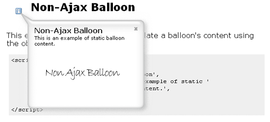 Non-Ajax-Balloon
