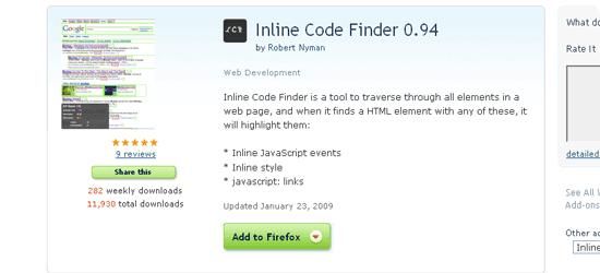 Inline-Code-Finder