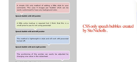 CSS-only-speech-bubbles