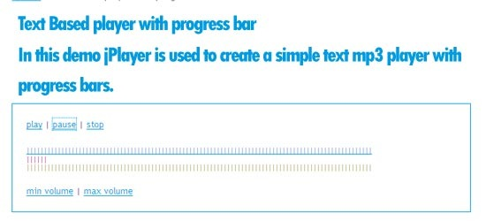 Text Based player with progress bar