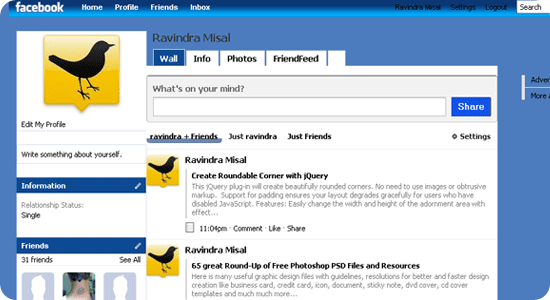 Blue-facebook-theme