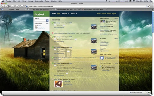 45 free facebook themes/skin for facebook user