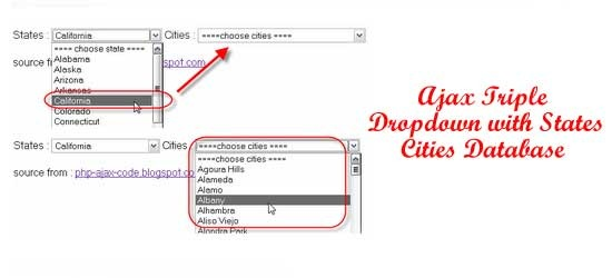 Ajax-Triple-Dropdown