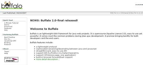 Buffalo-AJAX-Framework