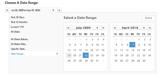 jQuery Date Range Picker with Shortcuts
