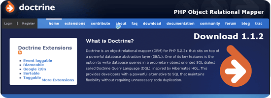 PHP Object Relational Mapper - Doctrine