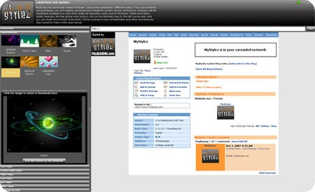mystylez - Unique MySpace layout creator