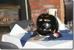 Our pumpkin checking out the kids menu