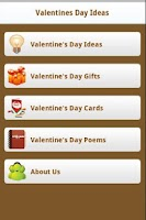 Screenshot of Valentine's Day Ideas