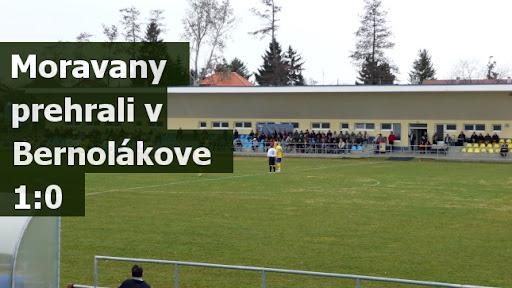 Moravany prehrali v Bernolákove 1:0