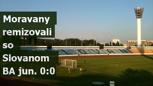Moravany remizovali so Slovanom BA jun. 0:0