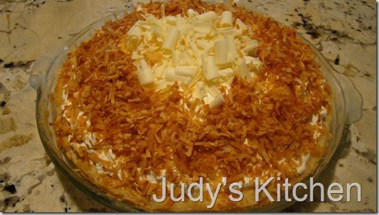 Judy's Kitchen: WHITE CHOCOLATE-RUM-COCONUT CREAM PIE
