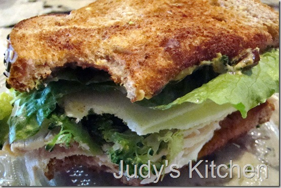 chicken cheese olive broccoli mayo mustard sandwich (2)