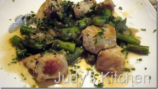 indian spiced chicken n asparagus