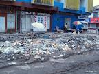 Etat de délabrement de l'avenue Bokasa à Kinshasa.