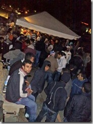 Des clandestins interceptés au large de Lampedusa, le 26 décembre 23008 (AFP)