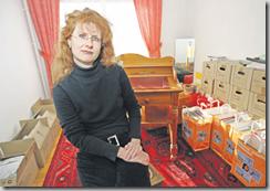 Nathalie Trolliet a reçu le 24 décembre la résiliation du bail de son appartement, propriété de l'EVAM. Pully, le 20 février 2009 (Vanessa Cardoso)
