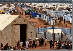 Vue générale du camp de Jalozai, situé à une trentaine de kilomètres au sud-ouest de Peshawar, 21 février 2009